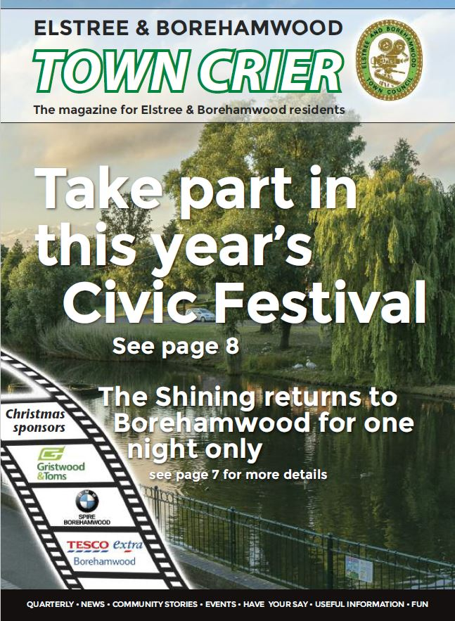 Town Crier 25 Front Page